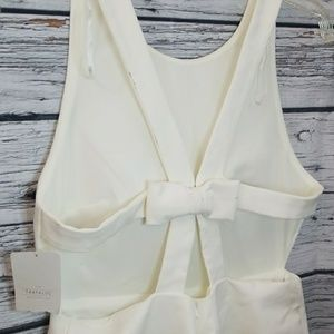 NWT Zara 🎉 strappy open criss cross bow dress Lg